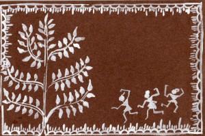 Warli Tree-Thank you card