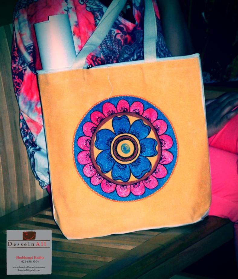 Handpainted shoulder bag
