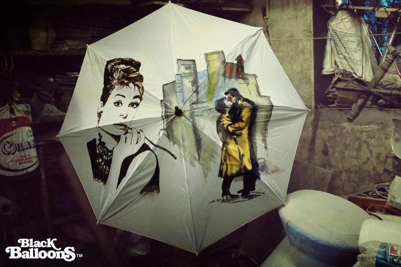 Handpained Umbrella