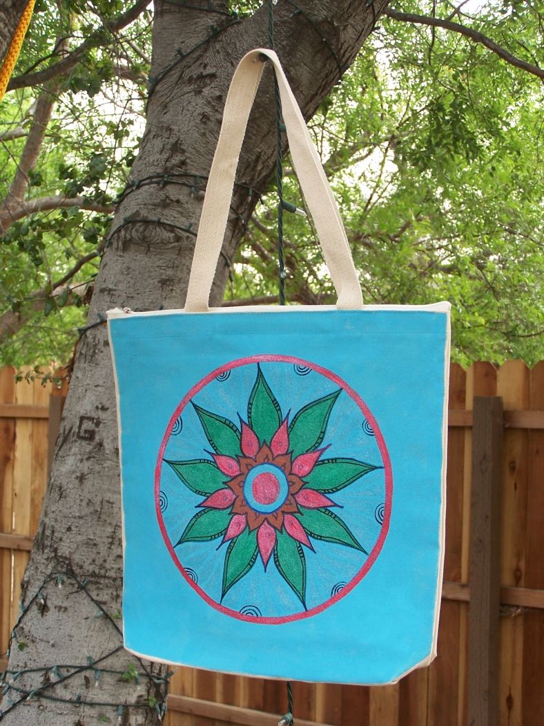 Hand-painted shoulder bag